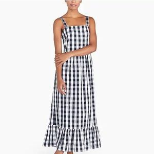 NWT - Tiered Maxi Dress - Navy and White